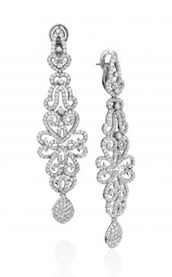 14K White Gold Diamond Chandelier Earrings (4.33tw)